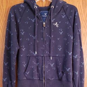 AE Full Zip Hoodie Sweatshirt with Eagle Design